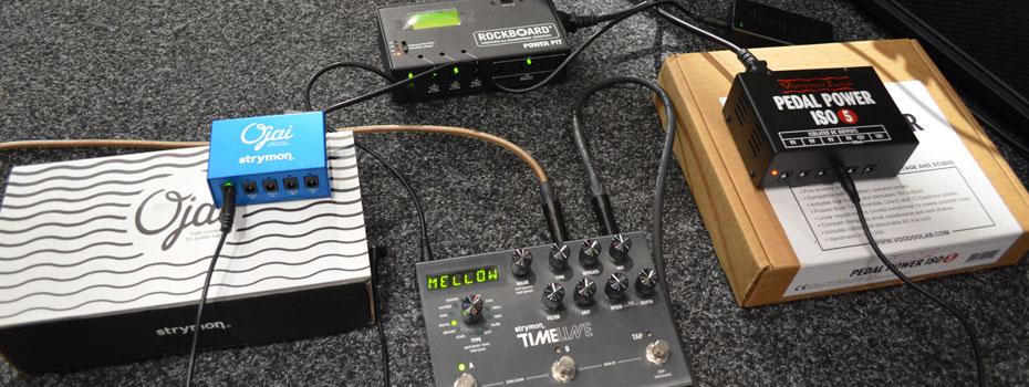 Porovnání napájecích adaptérů pro kytarové efekty