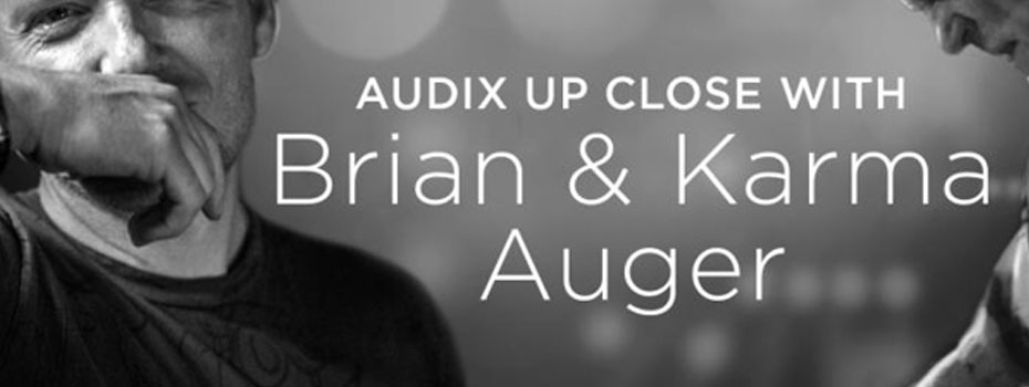Brian a Karma Auger a mikrofony Audix