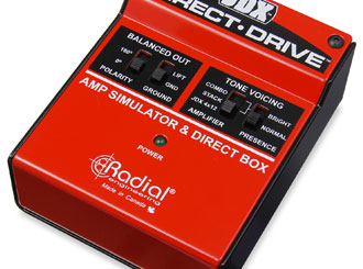 Radial JDX direct-drive, amp simulator a DI box