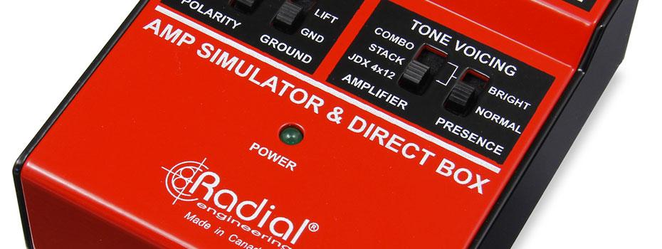 Radial JDX direct-drive, amp simulator a DI box