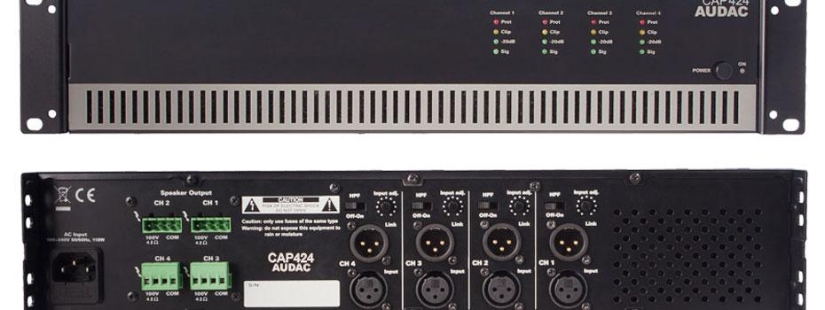 Audac CAP - série 100V zesilovačů