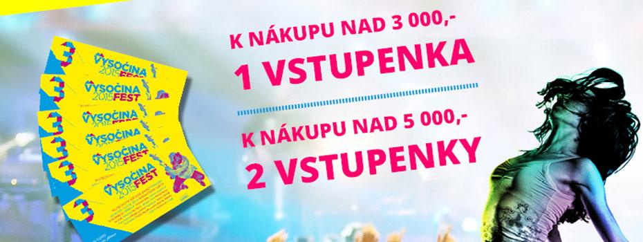K nákupu na imusicdata.cz lístky na Vysočina fest zdarma