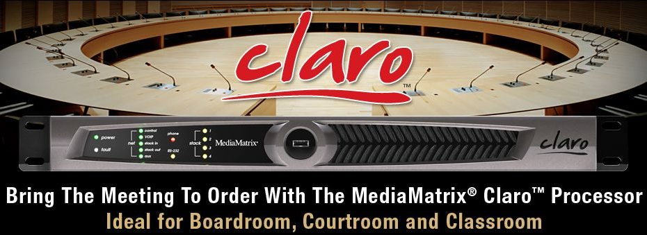 Nový konferenční systém MediaMatrix Claro