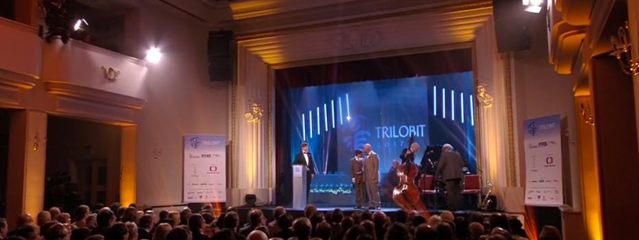 Ozvučovací a světelná technika pro udílení cen Trilobit 2017