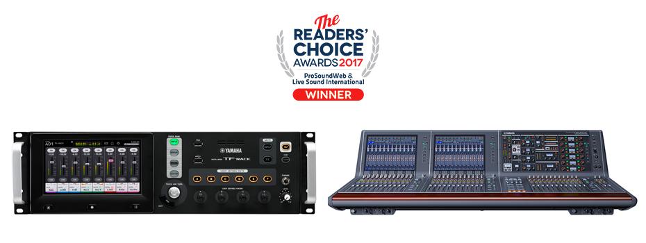 Ocenění pro Yamaha TF-Rack a Rivage PM10