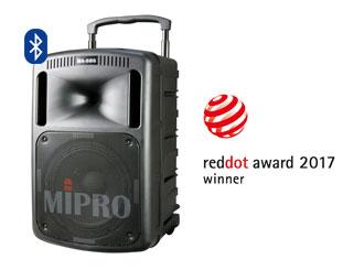 Mobilní ozvučovací systém MIPRO MA-808 vítězem reddot award 2017