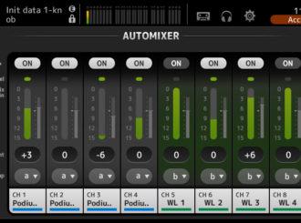 Obrázek č.2 article Automatický mixážní systém Dugan nově v pultech Yamaha řady TF