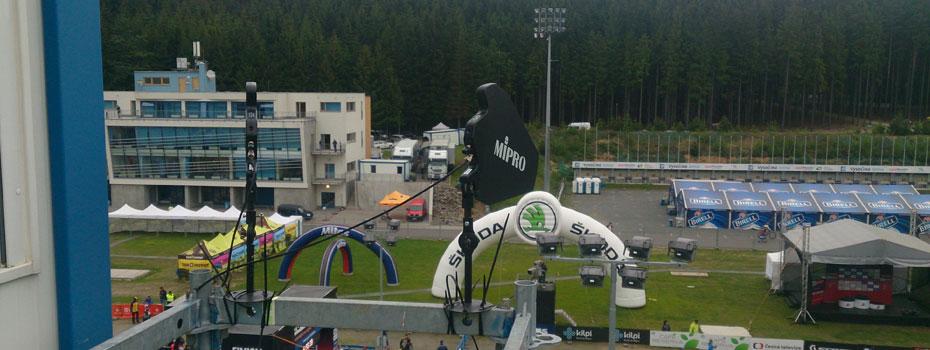 Bezdrátové systémy Mipro na Světovém poháru horských kol 2017