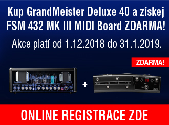 Kupte GrandMeister Deluxe 40 a získejte pedál FSM 432 MK III zdarma!