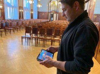 Obrázek č.9 reference Nexo STM Line Array ve Smetanově síni Obecního domu