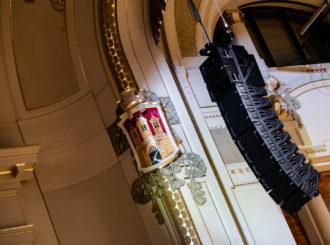 Obrázek č.1 reference Nexo STM Line Array ve Smetanově síni Obecního domu