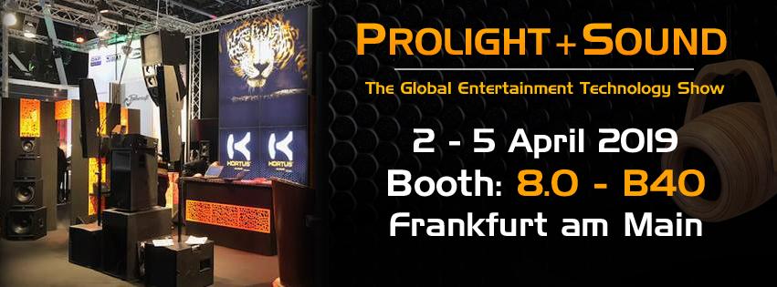 Výstava Prolight & Sound, Frankfurt 2. -5.4. 2019
